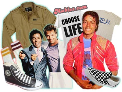Latest Fashion on 80s Fashion For Men